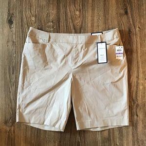🆕 Charter Club Tan Shorts Women's Size 18